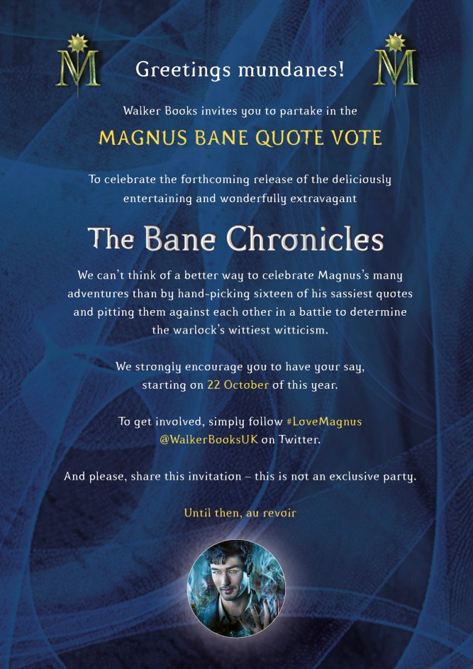 The Bane Chronicles Quote Invite